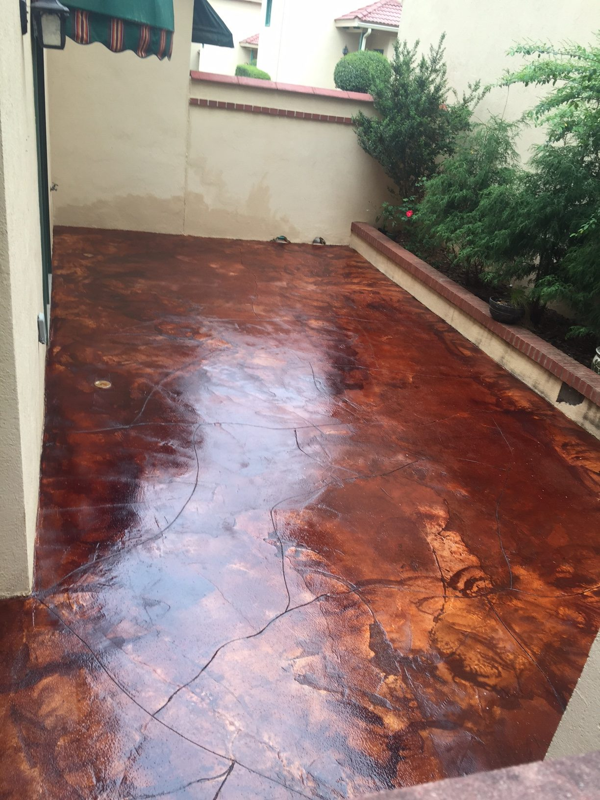 Acid staining concrete patio stain 100 acid wash for Acid wash concrete patio