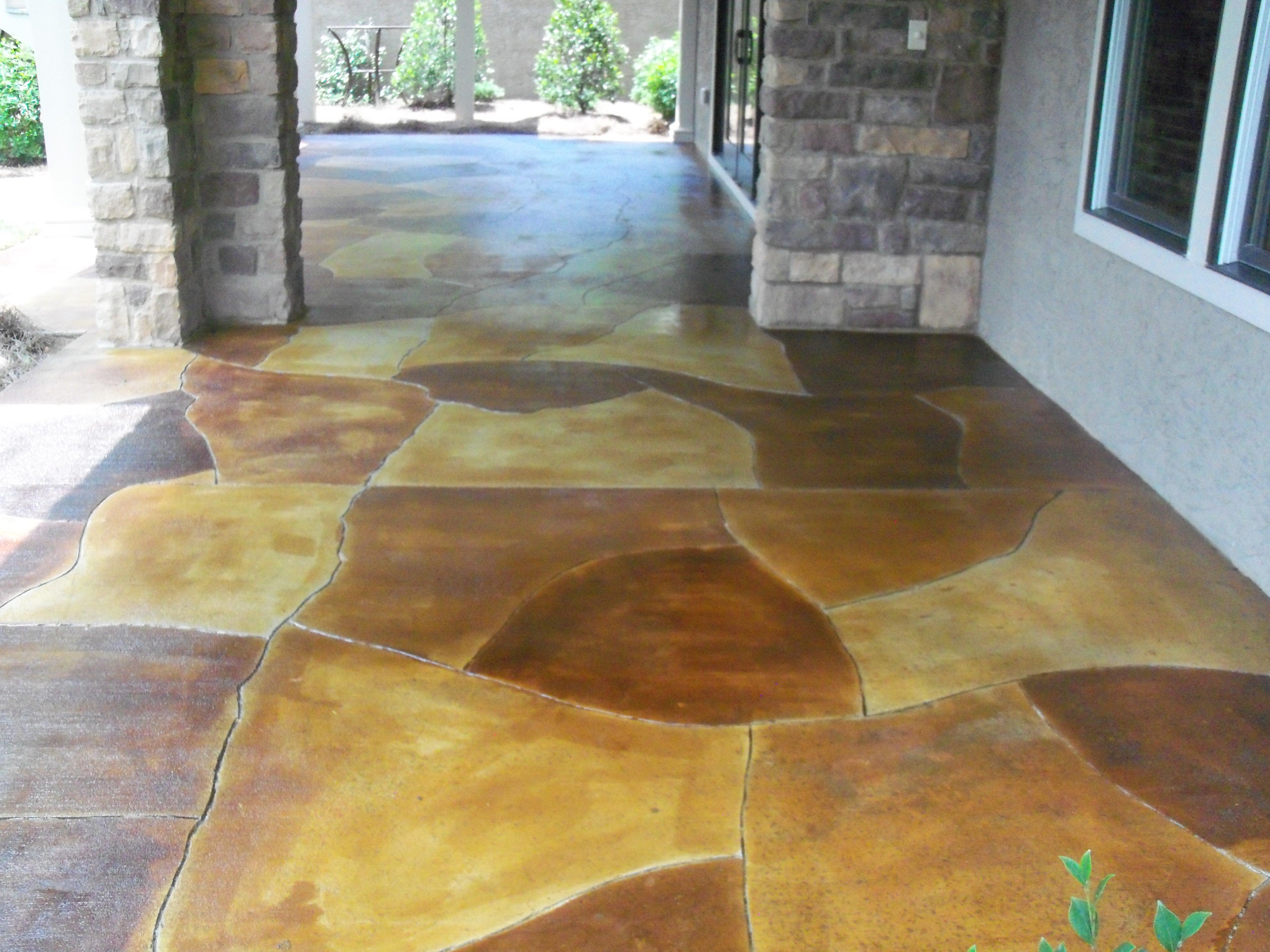 Acid Stained Concrete Concrete Constructors Inc